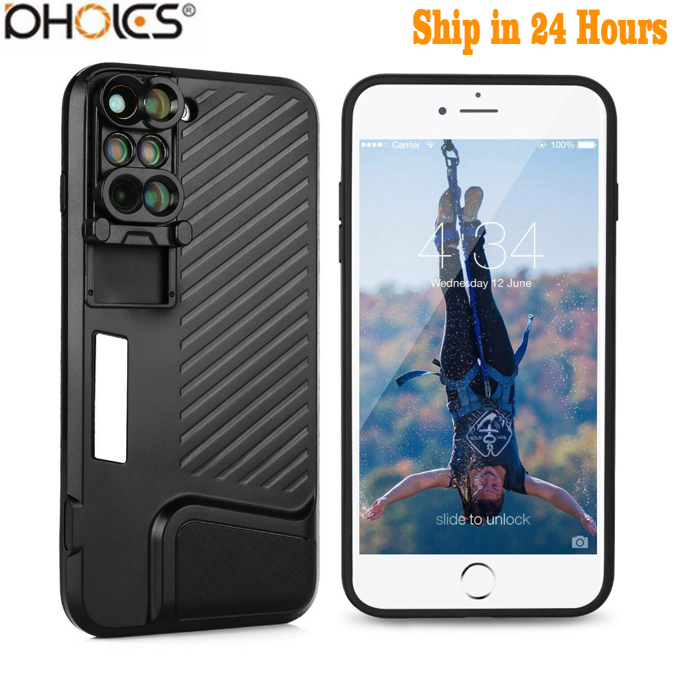 8 Plus Dual Kamera Objektiv Für Apple iPhone X 8 Plus Teleskop Objektiv Fisheye Weitwinkel Makro Objektiv Für iPhone 7 Plus Schwarz