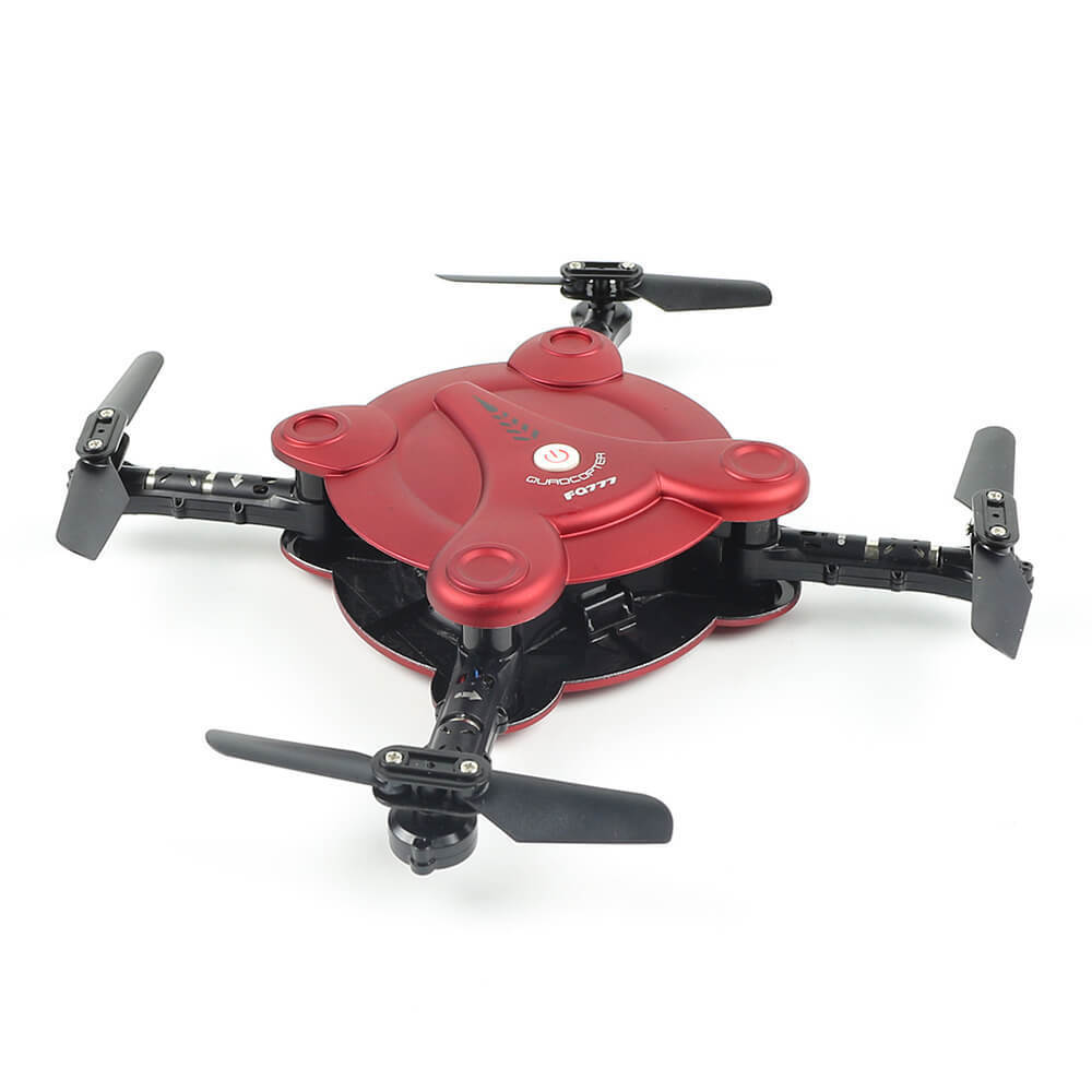 FQ777 FQ17W WIFI FPV Foldable Pocket Drone With 0.3MP Camera Remote Control Altitude Hold LED Headless RC Quacopter Mini Drone jjrc h39wh h39 foldable rc quadcopter with 720p wifi hd camera altitude hold headless mode 3d flip app control rc drone