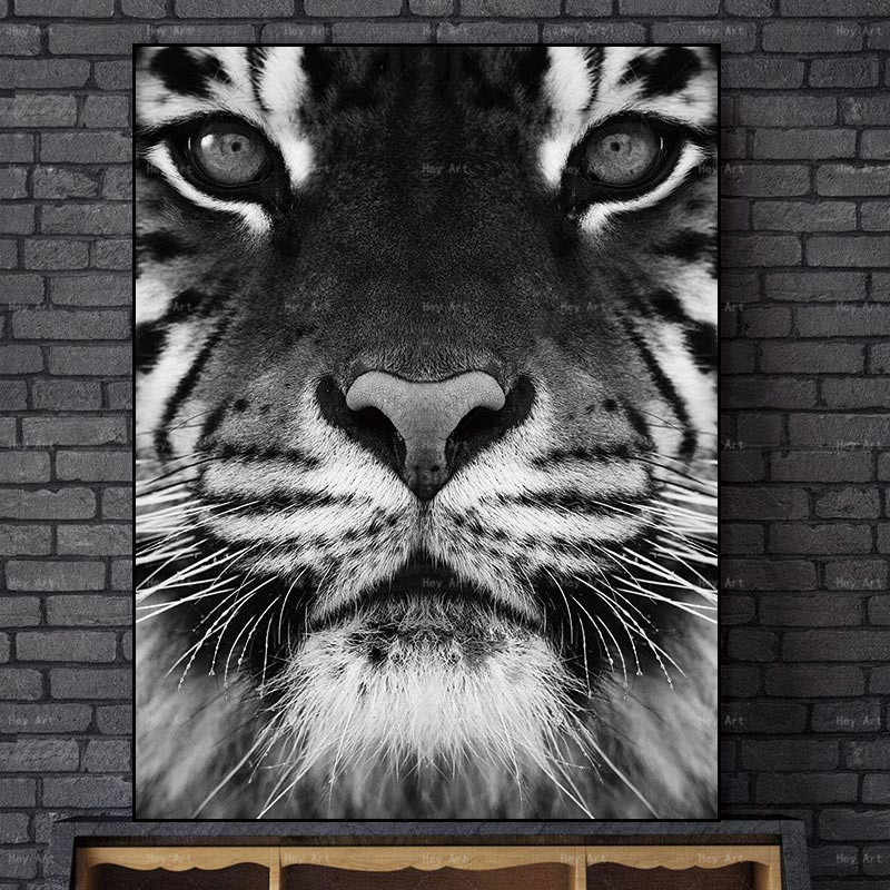 Wall Art Picture Animal Poster Prints Elephant Horse and Tiger No Frame Canvas Painting Artwork for Walls Living Room
