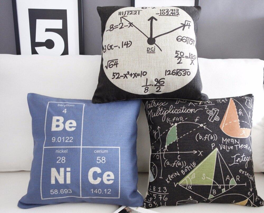 Nordic Modern Science Watches Pillow Home Pillow Cushion Linen Pillowcase Cushion Home Decor Decorative Pillows