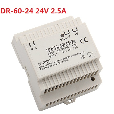 Din rail power supply 60w 12V or 24V power supply 60w ac dc converter dr-60 good quality OEM free shipping din rail power supply 60w 5v power suply 5v 60w ac dc converter dr 60 5 good quality from china factory