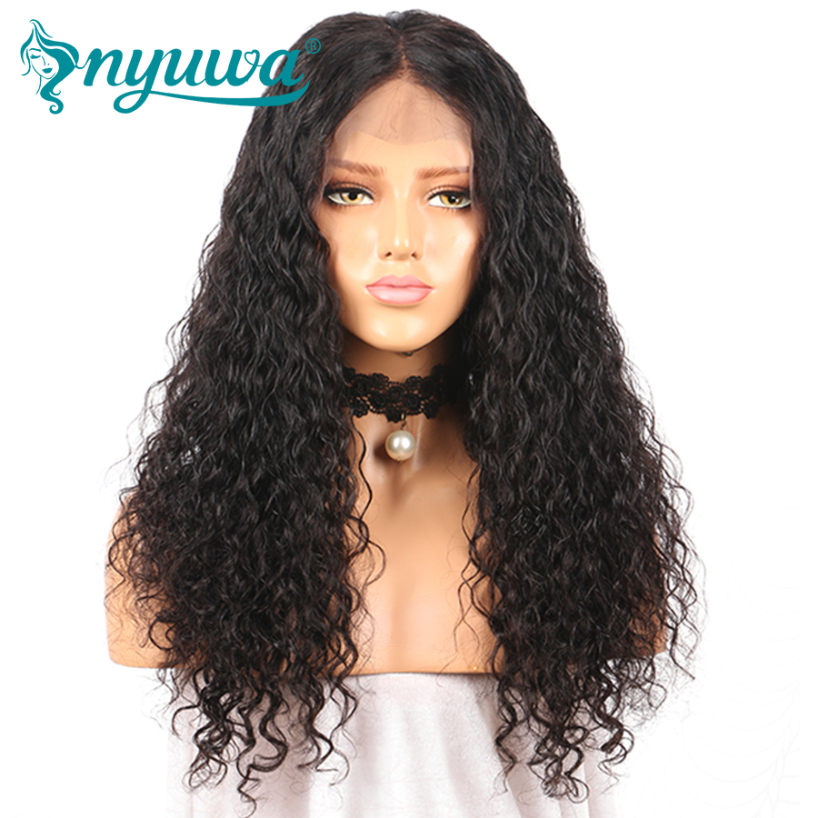 360 Lace Frontal Human Hair Wigs For Woman Pre Plucked Bleached Knots 180%Density Brazilian Remy Hair Water Wave With Baby Hair ...