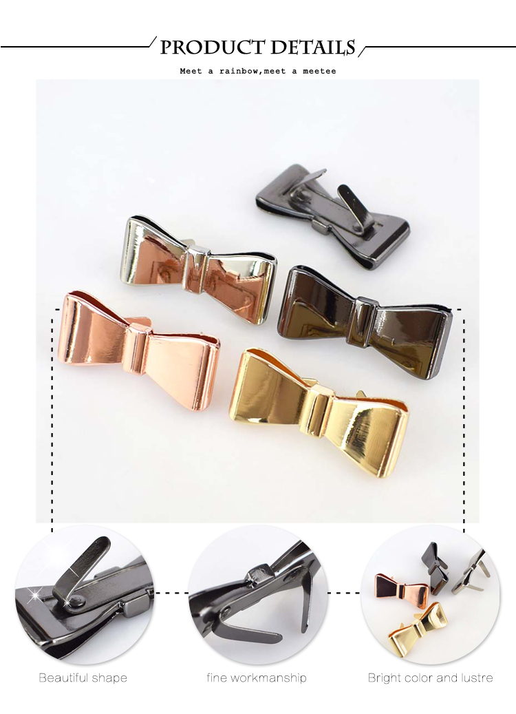 Pack of ten metal buckles for sandals shoes leathercraft accessories