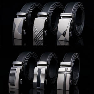 Famous Brand Belt New Male Designer Automatic Buckle Cowhide Leather men belt 110cm-130cm