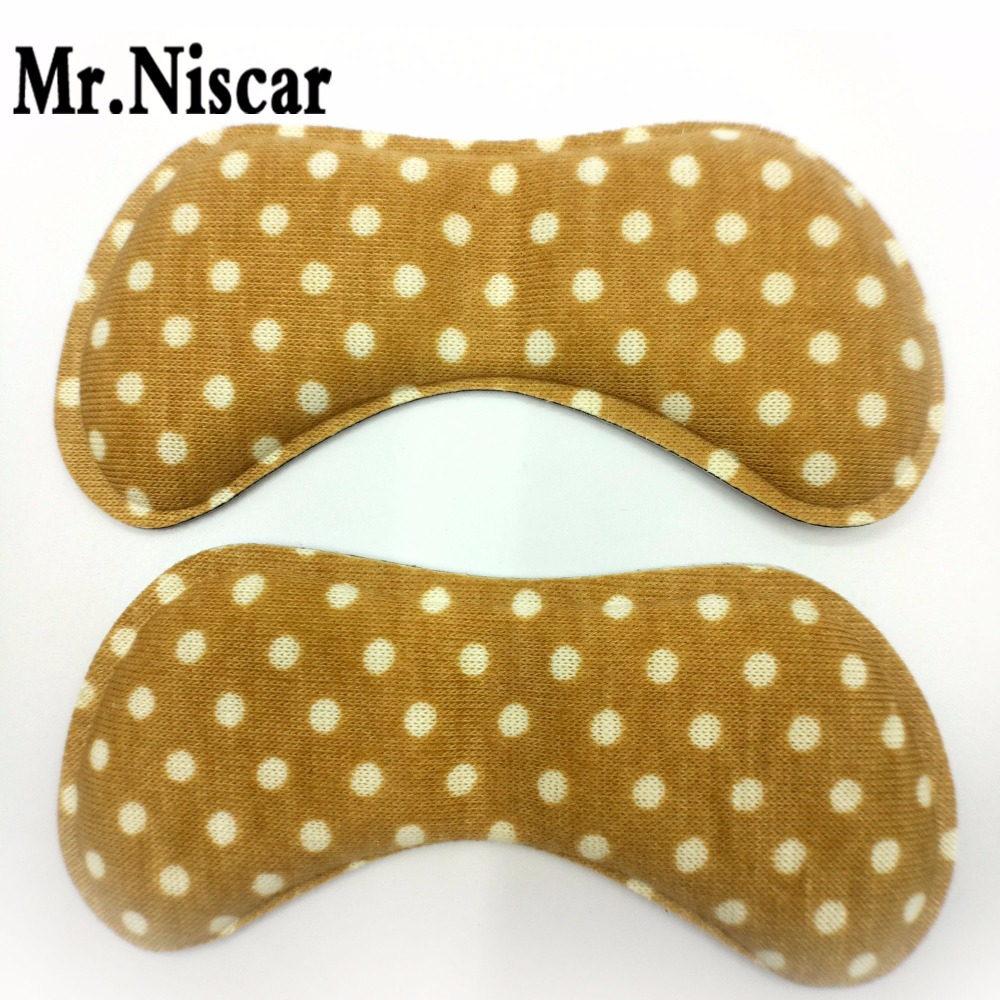 Mr.Niscar 1 Pair Beige White Point Shoe Cushion Inserts Women High Heel Sponge Butterfly-Shape Anti-slip Insoles Soft Comfort 5 pairs slica gel silicone shoe pad insoles women s high heel cushion protect comfy feet palm care pads accessories