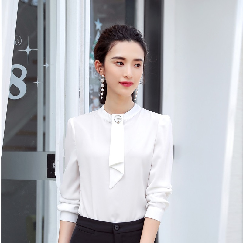 finest selection promo codes new york Fashion Light Blue Women Business Blouses and Shirts Ladies Office ...