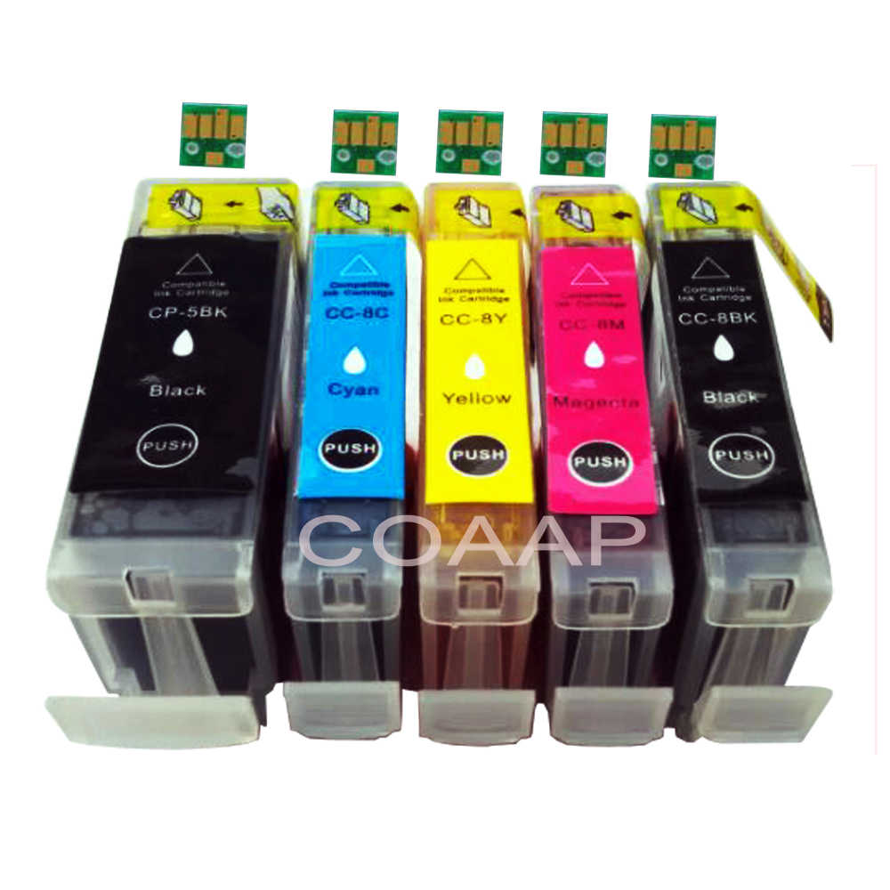 5 pk kompatibel pgi5 cli8 cartridge untuk canon pixma ip 4200 4300 4500 5200 5300 6600 printer 6700d