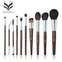 HUAMIANLI 10 Pcs Professional Make Up Brush Set Eye Shadow Powder Foundation Eyebrow Lip Makeup Brushe