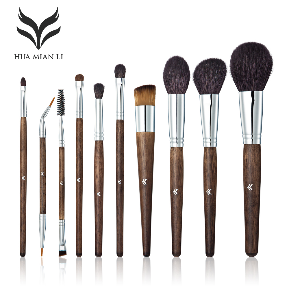 HUAMIANLI 10 Pcs Professional Make up Brush Set Eye Shadow Powder Foundation Eyebrow Lip Makeup Brushe Kit Cosmetic Tool 12pcs professional makeup brushes eye shadow foundation lip brush set cosmetic tool eye face cosmetic make up brush tool kit