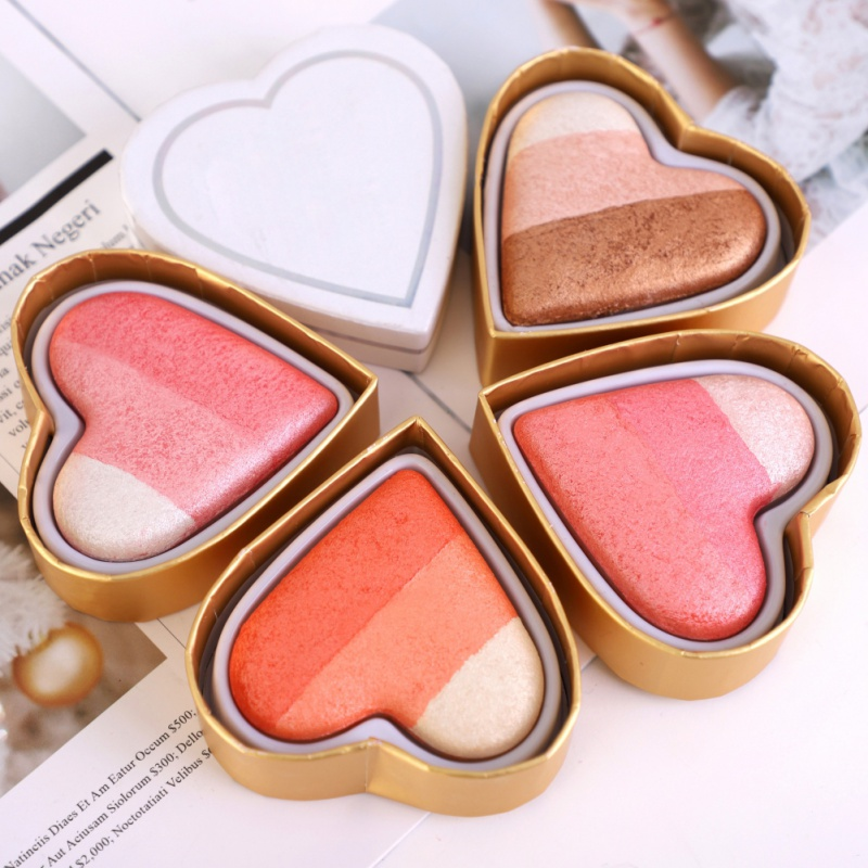 2018 New Heart-shaped Eye Shadow Bronzers
