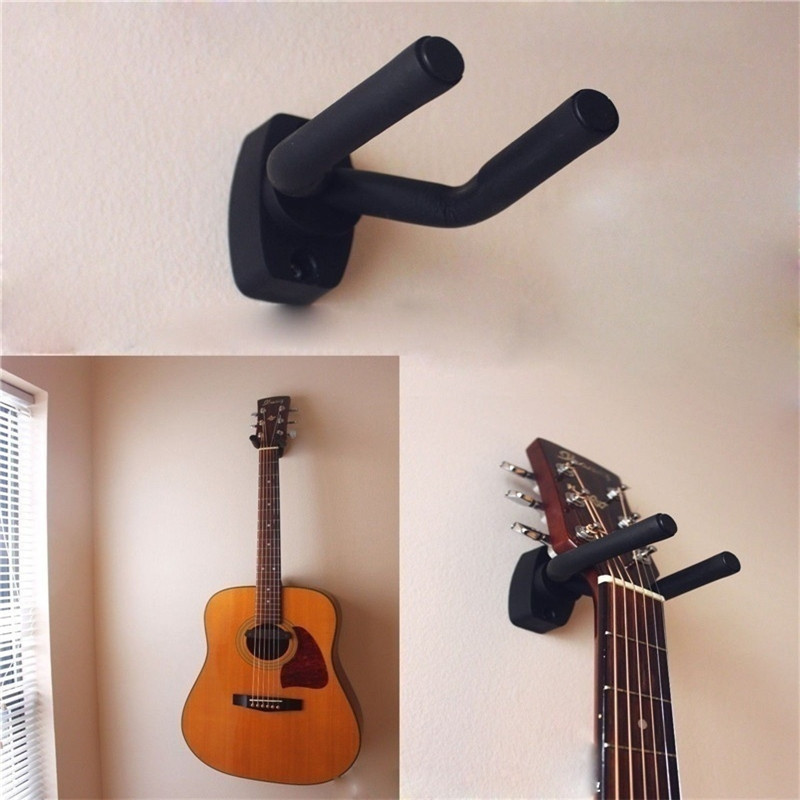 1 Pcs Hanger Hook Holder Wall Mount Stand Rack Bracket Display Guitar Bass Screws