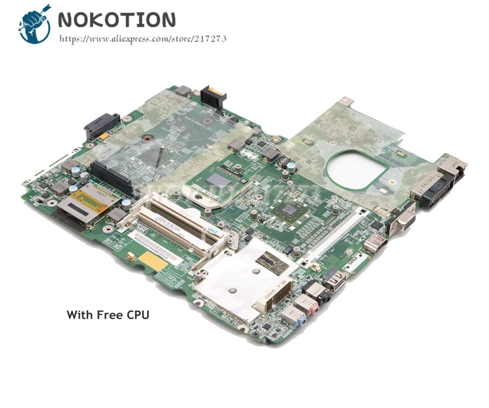 NOKOTION Laptop Motherboard For Acer Aspire 6530 MAIN BOARD MBAUQ06001 DA0ZK3MB6F0 DDR2 Free CPU Without Graphics Slot