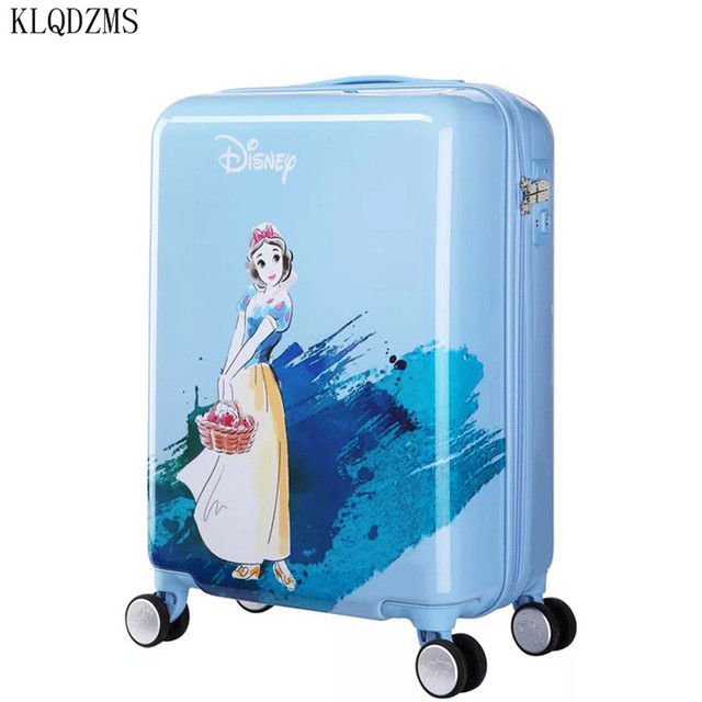 KLQDZMS 20 inches children cartoon ABS+PC rolling luggage trolley suitcase cute snow white travel bag for girls 2