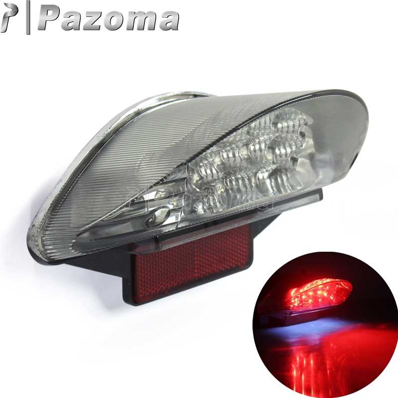 Red 12V 16PCS LED Motorcycle Motorbike Rear Tail Light Brake Stop Lights For BMW F650 F650 GS F650 ST F800 R1200 GS Series