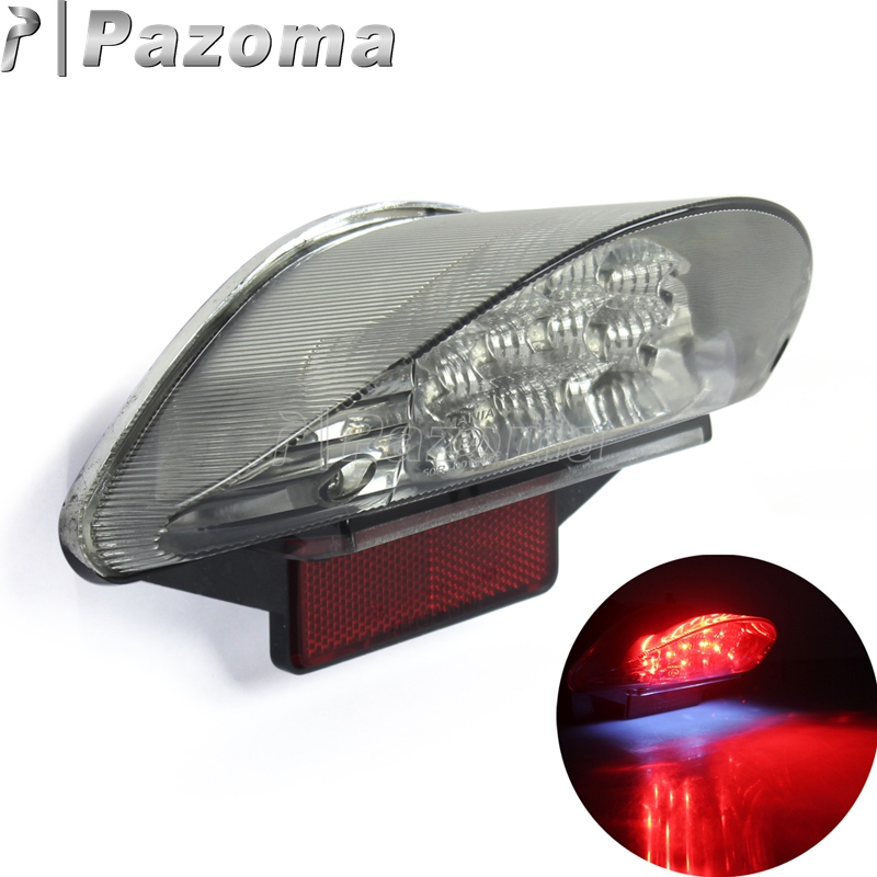 Red 12V 16PCS LED Motorcycle Motorbike Rear Tail Light Brake Stop Lights For BMW F650 F650 GS F650 ST F800 R1200 GS Series image