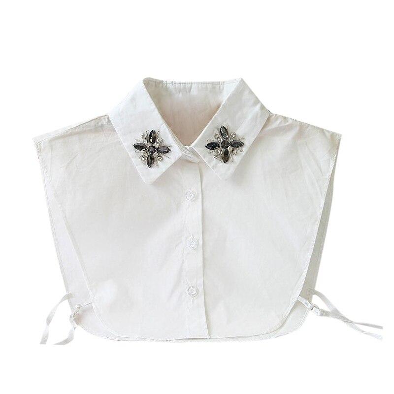 Neue Feste Shirt Gefälschte Kragen Weiß Bluse Vintage Abnehmbare Kragen Frauen Kleidung Zubehör Baumwolle Spitze Falsche Kragen Direktverkaufspreis