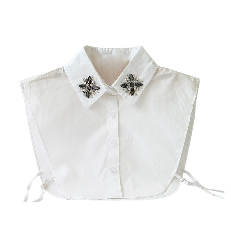 New Solid Shirt Fake Collar White Blouse Vintage Detachable Collars Women Clothes Accessories Cotton Lace False Collar