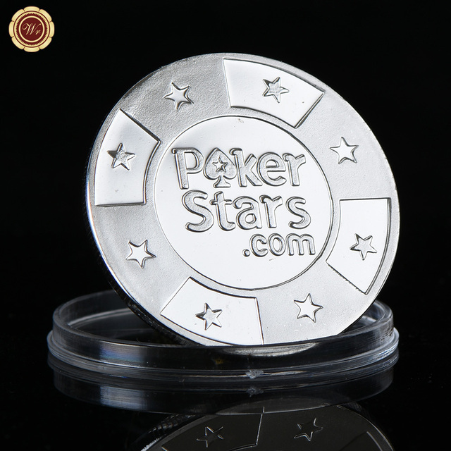 Us 28 44 Offwr 24 Karat 9999 Casino Poker Münze Kreative Poker Sterne Reinem Silber Metall Münzen Metall Handwerk Für Casino Spiel Spielen In