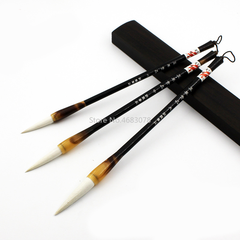 3Pcs/set Chinese Calligraphy Brushes Pen For Excellent Quality Woolen Hair Writing Brush Fit For Student School Supplies
