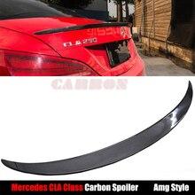 AMG Style For Mercedes W117 C117 CLA Class CLA 200 CLA220 CLA 250 CLA 45 AMG 2013 2014 2015 2016 Carbon Fiber Rear Spoiler