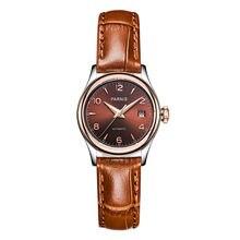 Parnis Royal Seriers Luminous Lady Women Leather Watchband  Fashion Automatic Mechanical Watch Wristwatch