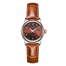Parnis Royal Seriers Luminous Lady Women Leather Watchband  Fashion Automatic Mechanical Watch Wristwatch