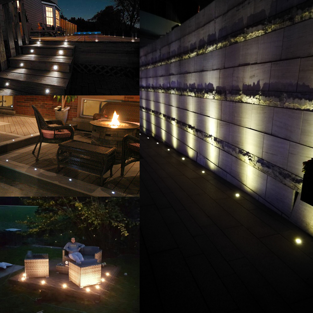 Led deck lights kit stainless steel waterproof outdoor garden yard led deck lights kit stainless steel waterproof outdoor garden yard decoration garden lamp recessed wood deck stairs light 10pcs in led underground lamps aloadofball Image collections