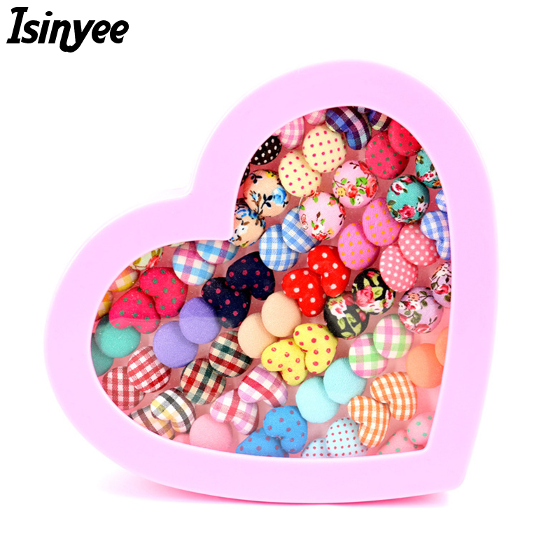 ISINYEE 2017 Fashion Small Flower Stripe Heart Stud Earrings For Kids Children Gilrs Earring Set 36 Pairs Randomly With Box