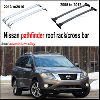 For Nissan Pathfinder Horizontal Roof Rail Luggage Bar Cross Beam OEM Model Thick Aluminum Alloy Low