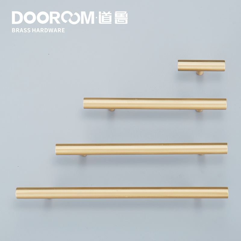 Dooroom Yu'an Brass Furniture Handles Nordic Modern Pastoral Wardrobe Dresser Cupboard Drawer Cylinder Black/Gold Pulls Knobs
