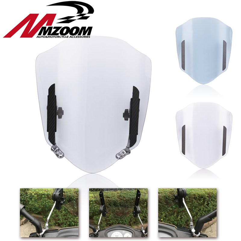 Universal Motorcycle Windshield Adjustable Extension Spoiler Windscreen Air Deflector For Honda Suzuki Yamaha KTM