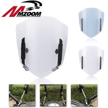 Universal Motorcycle Windshield Adjustable Extension Spoiler Windscreen Air Deflector For Honda Suzuki Yamaha KTM