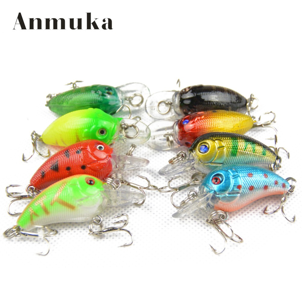 Anmuka 4.2G 4.5CM Bass Fishing Lures Crank Bait Crankbait 8 Colors Tackle Swim Bait Wobblers Fishing Japan Hard Crazy Fish Lure 1pcs lifelike 8 5g 9 5cm minow wobblers hard fishing tackle swim bait crank bait bass fishing lures 6 colors fishing tackle