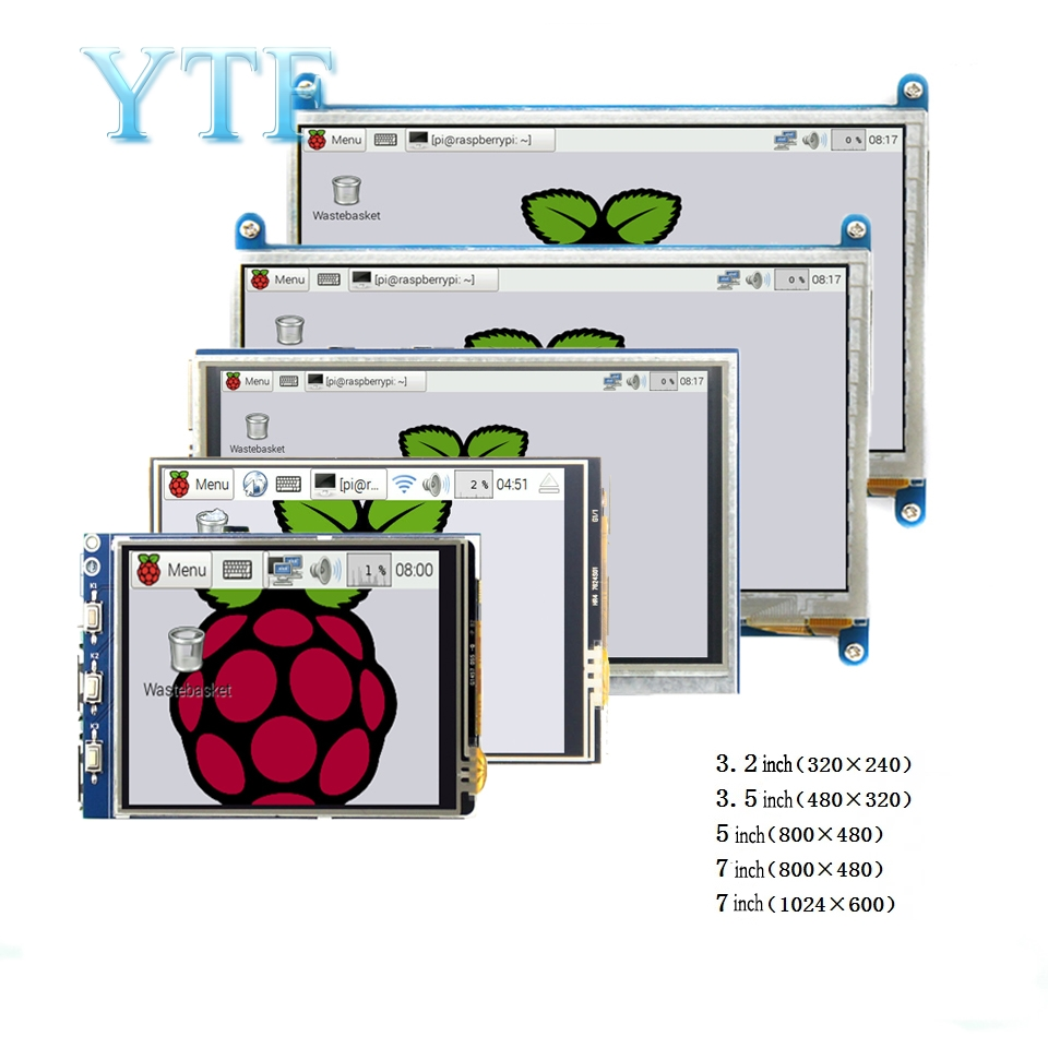 Raspberry pi 3B + 4 B 3,2/3,5/5/7/10,1 pulgadas táctil HDMI LCD Módulo de pantalla compatible con Raspberry Pi 2/3 B +/4 pantalla