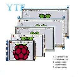 Raspberry pi 3b + 4 b 3.2/3.5/5/7/10.1 polegada toque hdmi módulo de exibição lcd suporte raspberry pi 2/3 b +/4 tela