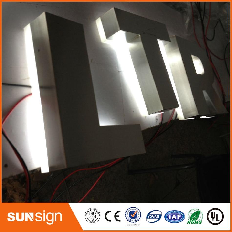 Custom Storefront Outdoor Advertising Backlit Channel Letter Sign
