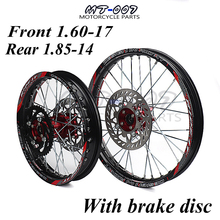 1,60-17 и 1,85-14 дюймов передний задний обод колеса из сплава с ЧПУ ступичный тормозной диск для KAYO HR-160cc TY150CC Dirt Pit bike 14/17 дюймов