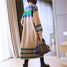 knit Thick Long Loose Large Size knitted Sweater