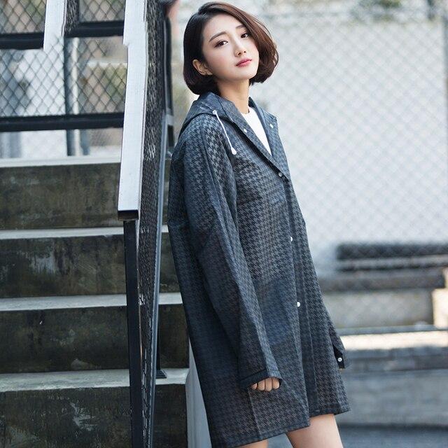 55a5cf54e39 Eva Transparent Raincoat Adult Hiking Japanese Men And Women Korean Fashion  Coat Long Poncho For Travel