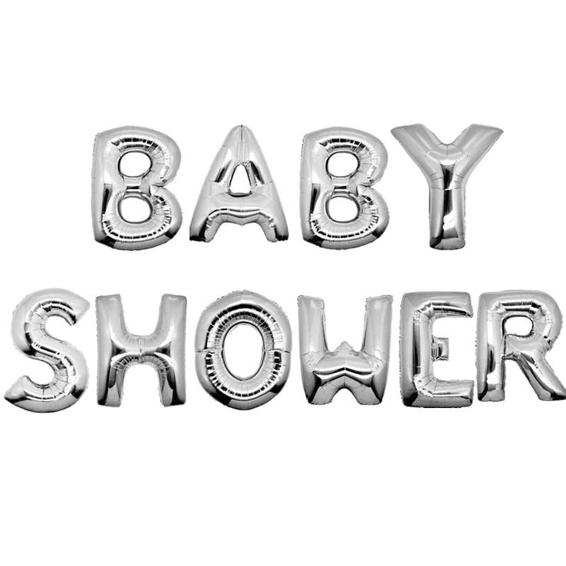10pcs/set 16inch letter alphabet balloon BABY SHOWER foil