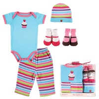 5pcs Lot Baby Clothing Set Summer Baby Romper Baby Pants Infant Cap 2 Pairs Baby Socks