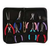 9pcs Jewelry Pliers Tools Mini Set for Handcraft Beadwork Repair Making Needlework DIY Supplies