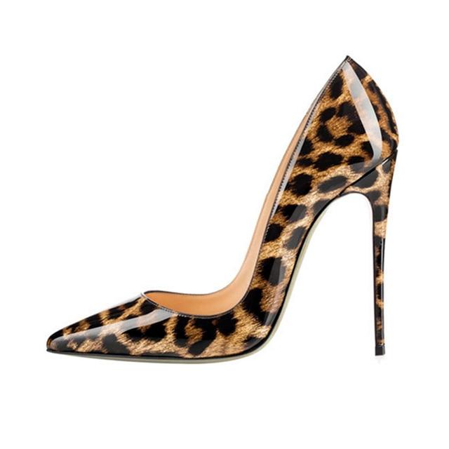 Kqaoqao Leopardenmuster Frauen Pumpt Dünne High Heels Schuhe Frau ...