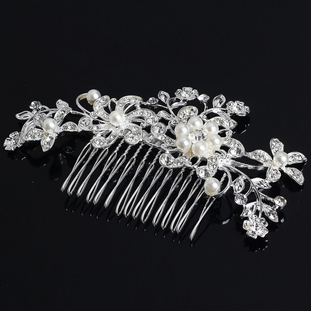aliexpress : buy fancy wedding bridal hair comb jewelry flower