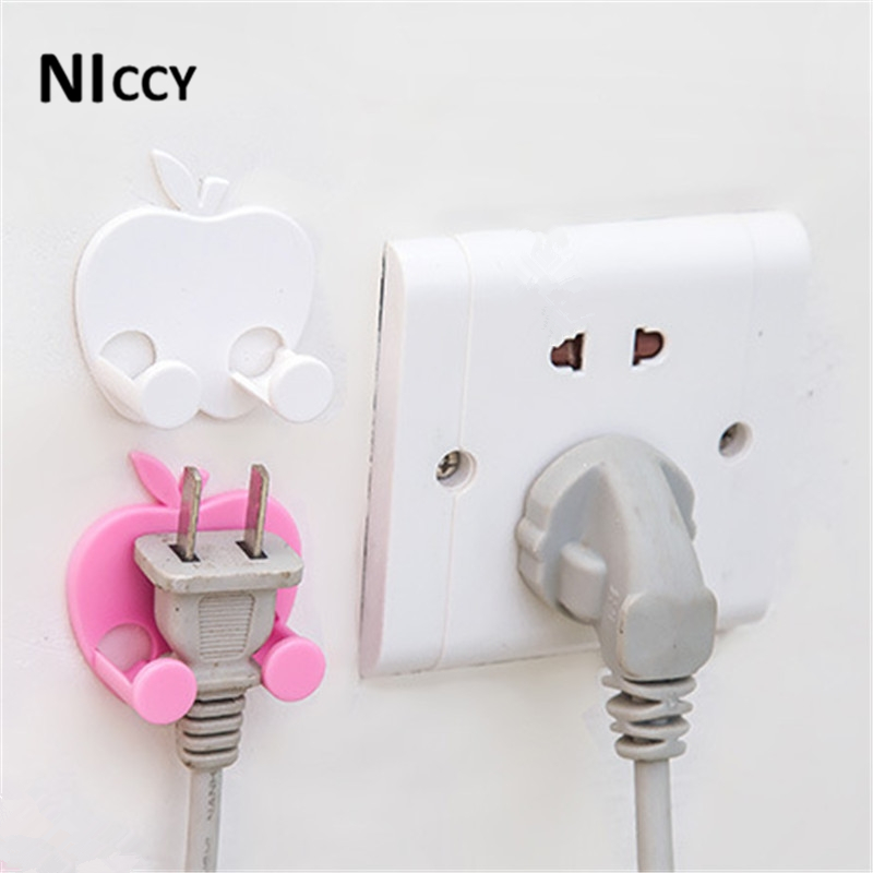 5pcs Power Cable Holder Cute Pink White Key Organizer Wall