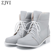ZJVI woman snow boots women platform ankle warm ladies low heels shoes kids gray red black 2019 winter for gils children