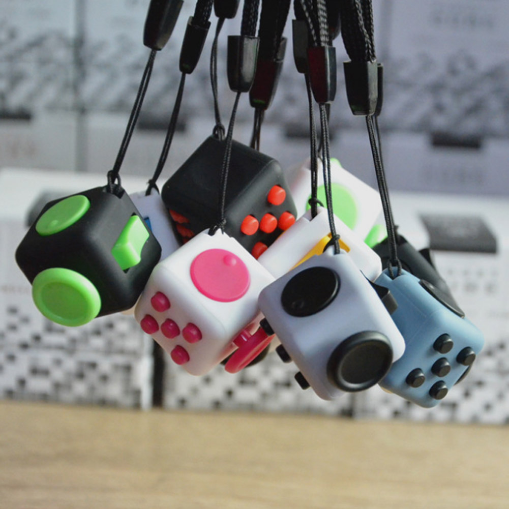 2017 Desk Toy Mini Cube Relieves Anxiety and Stress Juguete For Adults Squeeze Fun Fidget Cube Desk Spin Toys ...