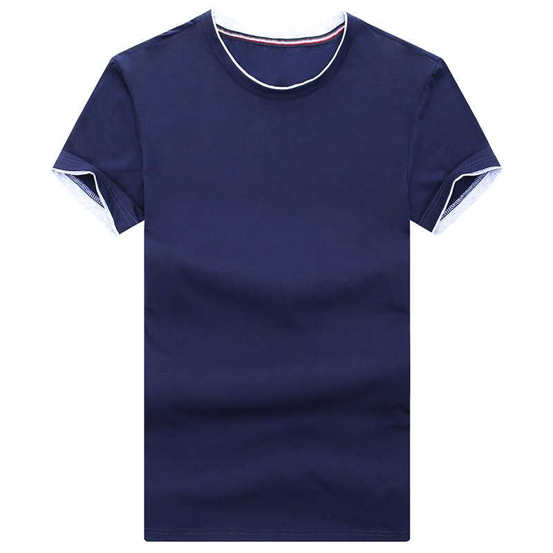 2019 nowych moda marka T koszula mężczyzna jednolity kolor bawełna trendy Streetwear topy lato O Neck koreański koszulka z krótkim rękawem męskie ubrania