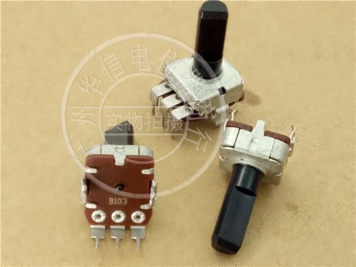 Оригинальный новый 100% 12 Тип квадратный вертикальный одинарный потенциометр B10K B103 B500K b505 ручка 17MMF (переключатель)