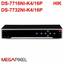 Embedded Plug & Play 4K NVR DS-7716-K4/16P DS-7732NI-K4/16P supported 8mp ip camera for cctv security system